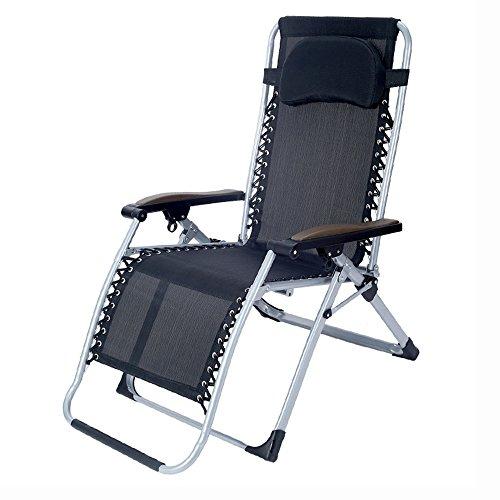 KFXL yizi Chaise pliante en acier de ménage/fauteuil inclinable décontracté de jardin de balcon/femmes enceintes Chaise de dossier confortable de siesta/chaises en plein air de plage