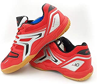 Yonex AllEngland X Non-Marking Professional Badminton Shoes, Bright Red/Silver - 5.5 UK