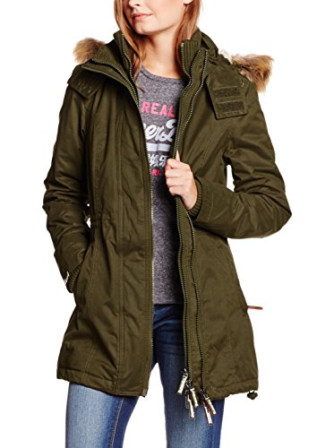 Superdry Giacca Lunga Microfibre Tall Windparka Verde Militare S