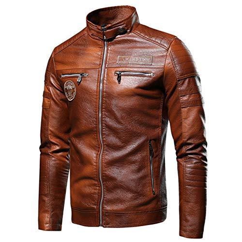 Chaqueta Cuero De Hombres,Chaqueta de locomotora callejera de estilo antiguo y retro, chaqueta de piloto para hombres, cortavientos finos, otoño invierno, para andar en motocicleta, fiestas de disf