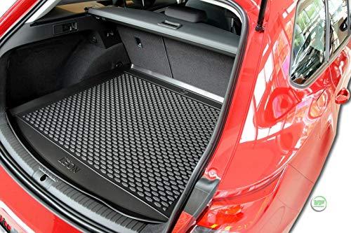 J&J AUTOMOTIVE Premium Antirutsch Gummi-Kofferraumwanne für SEAT Leon Kombi 2012-2020