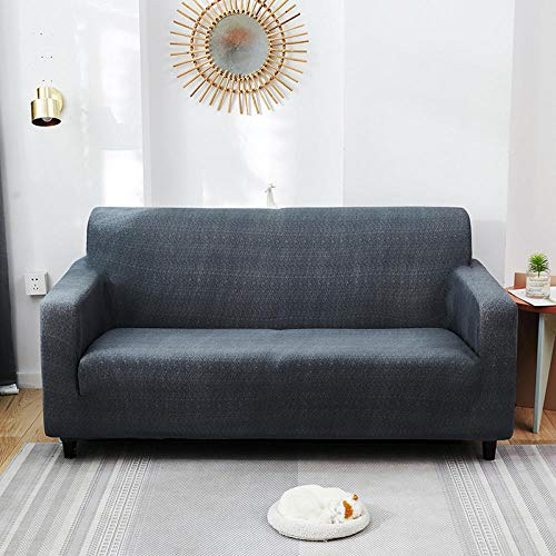 HXTSWGS Housse de Canapé d'angle Extensible,Living Room Sofa Cover, Stretch Sofa Cover, Chair and Stool Sofa Cover, Furniture Cover-Gray Blue_90-140cm