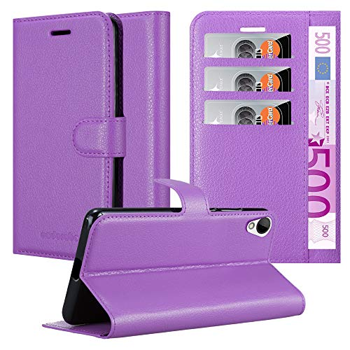 Cadorabo Hülle für HTC Desire 10 Lifestyle/Desire 825 in Mangan VIOLETT - Handyhülle mit Magnetverschluss, Standfunktion & Kartenfach - Hülle Cover Schutzhülle Etui Tasche Book Klapp Style