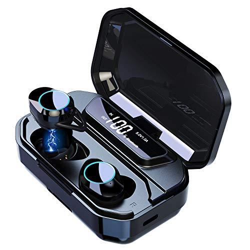 LIOMO Wireless Bluetooth Kopfhörer In Ear Kabellos Sportkopfhörer mit CVC 8.0 Noise Cancelling,Bluetooth 5.0,Touch-Control,Mikrofon,Smart LCD Digitalanzeige,Ladekästchen 3300mAh für iPhone Android