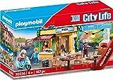 Playmobil City Life 70336 - Pizzeria con Tavoli all'Aperto con Effetti Luminosi, dai 4 anni