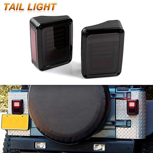 Scitoo LED Tail Light Reverse Light Turn Signal Lamp Running Lights Fit for 2007-2017 For Jeep For Wrangler JK Tail Light Assembly
