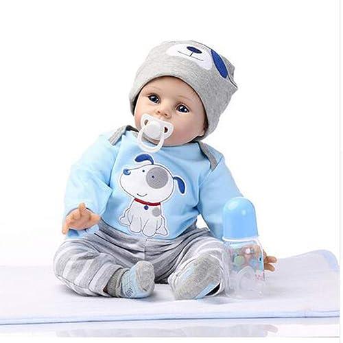 JFW-22 Zoll 55cm Reborn Babypuppe Weiße Simulation Silikon Vinyl Magnetischen Mund Lebensechte Junge mädchen