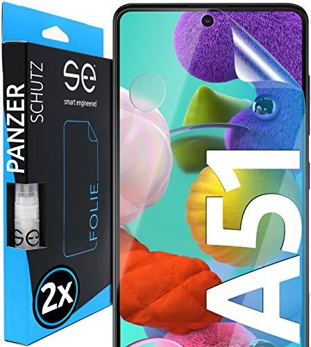 3D Pellicola protettiva per display Samsung Galaxy A51 [2 pezzi] [smart engineered] - Transparente - facile da usare