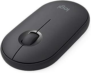 ロジクール ワイヤレスマウス 無線 マウス Pebble M350GR 薄型 静音 グラファイト ワイヤレス windows mac Chrome Android Surface iPad OS 対応 M350 国内正規品 2年間無償保証