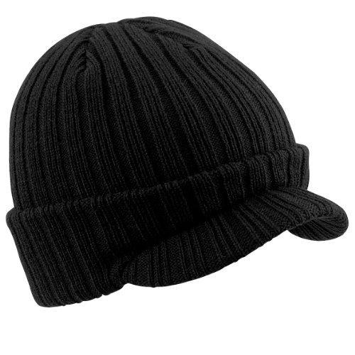 Beechfield - Bonnet à visière - Homme (Taille unique) (Noir)