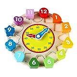strimusimak Juguete De Reloj De Clasificación De Forma De Madera con Número Y Forma Regalo De Juego Educativo para Niños, Niñas Y Niños 1