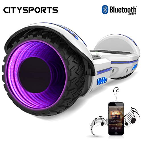CITYSPORTS Balance Board 6.5 Zoll, Elektro Scooter, Elektro Self-Balancing Smart Scooter 2x350W mit LED Bluetooth
