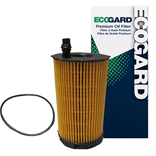 ECOGARD X5843 Premium Cartridge Engine Oil Filter for Conventional Oil Fits Audi A8 Quattro 4.2L 2007-2012, S5 4.2L 2008-2012, Q7 4.2L 2007-2010, R8 5.2L 2010-2018, RS5 4.2L 2013-2015
