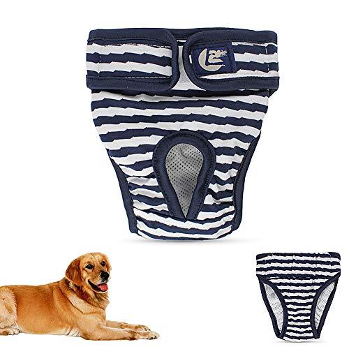 hanbby Hundewindeln RüDe Hundewindeln FüR HüNdinnen Hygienehosen für Hunde Windel Hündin Hund Windeln weiblich klein Hundesaison Hosen Hunde Periode Hosen Blue,XL