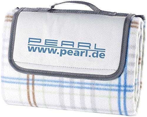 PEARL Strandmatte: Fleece-Picknick-Decke mit wasserabweisender Unterseite, 140 x 100 cm (wasserdichte Picknickdecken)
