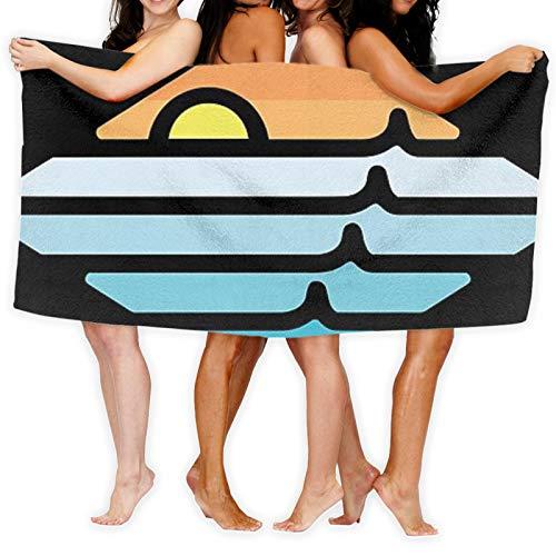 Toalla de playa Iration de doble cara jacquard súper grande, toalla de playa, toalla de piscina, felpa de lujo, 104% poliéster
