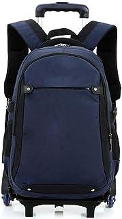 Yyqtsb Wheeled Backpack, Travel Bag Portable Wheeled Student Bag Business Computer Bag Waterproof Outdoor Travel Trolley Bag Roller Backpack