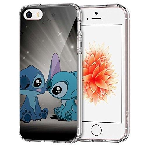 iPhone SE Covers,iPhone 5S Covers,iPhone 5 Covers, [JFGGLFDO000024] Trasparente Cancella Soft TPU Gel Cover per iPhone SE/5S/5 [Transparent], Covers Xin TM
