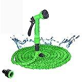 25ft-200ft Gartenschlauch ausdehnbar Flexibler Wasserschlauchschlauch-Kunststoffschläuche-Rohr mit Spritzpistole zum Bewässerung von (Color : Green, Lengh : 50ft)