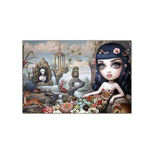 WJWGP Mark Ryden Katy Afrodita Lienzo Arte óLeo Pintura Pop Arte Poster Y Estampados Surrealismo Pared Arte Cuadros Moderno Inicio Decoracion 50x70cm No Marco