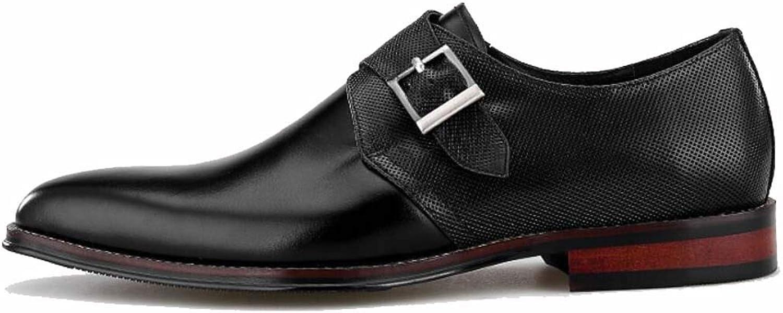 My &YG Mans Square Head mängke läder skor Business Side Side Side Buckle Handgjort läder skor  bästsäljare