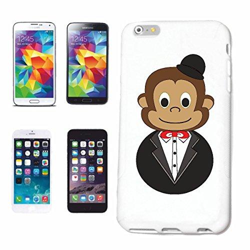 Bandenmarkt telefoonhoes compatibel met iPhone 7+ Plus grappige chimpanse met pak en meloen chimpanse AFFE menschenAFFE Gorilla Orang UTAN ZILVEREN Gibbon