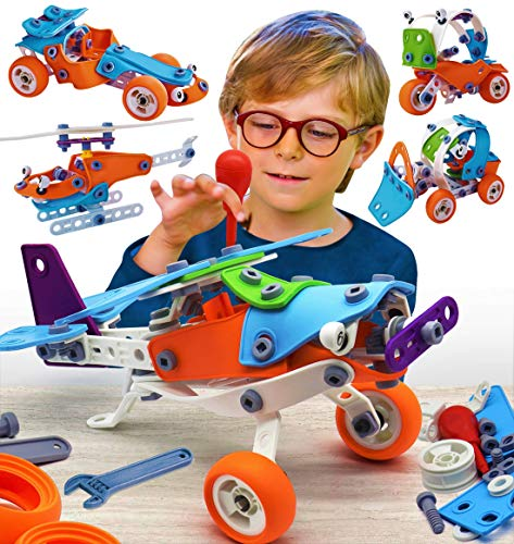 STEM Building Toys for Boy 6-8 Years Best Gift 6 7 8 9 Year Old Boy Toys Educational Stem Toys Kids Building Set Boy 5-7 Engineering Building Kit Erector Toys for Boys 8-12 Construction Learning Toys