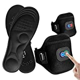 Memory Foam Heated Insoles,Kamlif Cut-to-Fit Multiple Sizes Foot Warmer for Women & Men with Rechargeable 2400mA Battery Operated Winter Heated Shoes Insoles,Works up to 3-6 Hours