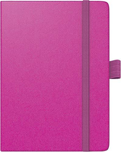 BRUNNEN 107326626 Taschenkalender Modell 732 Kompagnon (2 Seiten = 1 Woche, 10 x 14 cm, Baladek-Einband, Kalendarium für 18 Monate (Juli 2019 bis Dezember 2020)) pink