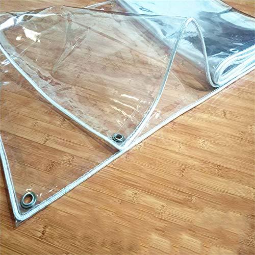 Transparente Lonas transparentes de PVC a prueba de agua de alta resistencia, toldo de lona de 0.33 mm de espesor Ojales de acero inoxidable, carpa, bote, piscina, remolque y cubierta de lona de plá
