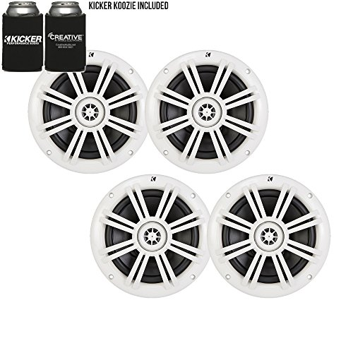 Kicker White OEM Replacement Marine 6.5 inch best car speakers
