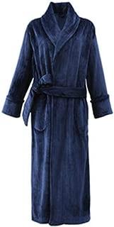 NAN liang 男性のナイトガウン秋冬段落、バスローブパジャマ厚み付け長くマネー、ベルト、ポケット付き(M-2XL) (Size : XL)