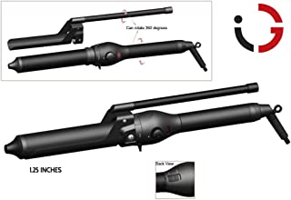 InGlam VERGE Professional 1 1/4 inch MARCEL WAND, Clipless Wand Curling Iron