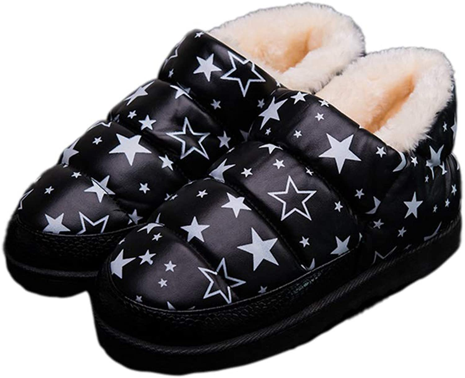 Women Indoor Boots Slippers Waterproof with Fur Platform Winter Female Footwear Cotton Warm Bedroom Ladies shoes