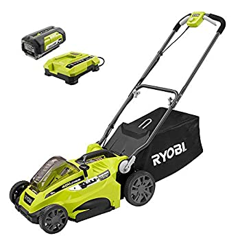 Ryobi 16  40-Volt Lithium-Ion Cordless Battery Walk Behind Push Lawn Mower with 4.0 Ah Battery and Charger Included RY40140