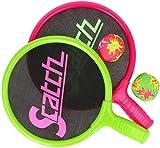 com-four® 4-teiliges Ball-und-Schläger-Spiel für Kinder - Beachball Set - Schläger und Bälle für Spielspaß im Wasser -