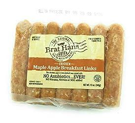 THE ORIGINAL BRAT HANS Maple Chicken Breakfast Sausage Links, 12 OZ