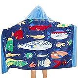 Toalla de Playa para niños Cambiar Las Toallas De Los Niños del Bebé del Traje De Baño De La Historieta Linda con Capucha Toallas De Playa Toallas De Las Niñas De Los Niños Regalos para niños