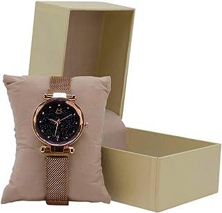 Relógio Feminino Rosê Original Pulseira Magnética