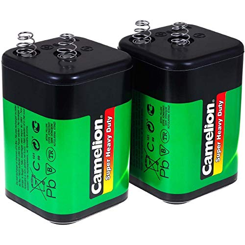 Camelion Lote de 2uds 4R25 6V-Block - Reemplazo para Nissen Pila de Linterna IEC 4R25