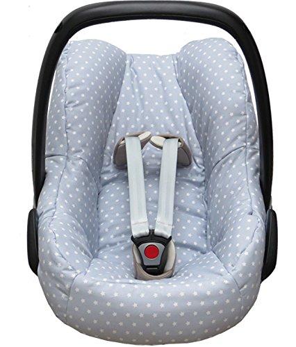 Blausberg Baby Housse pour la Maxi Cosi Pebble Coque bébé en gris avec étoiles