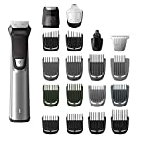Philips Norelco Multigroom Series 7000 23 Piece Mens Grooming Kit, Trimmer for Beard, Head, Body, and Face MG7750/49