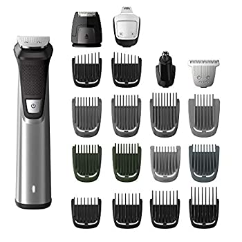 Philips Norelco Multigroom Series 7000 23 Piece Mens Grooming Kit Trimmer for Beard Head Body and Face MG7750/49