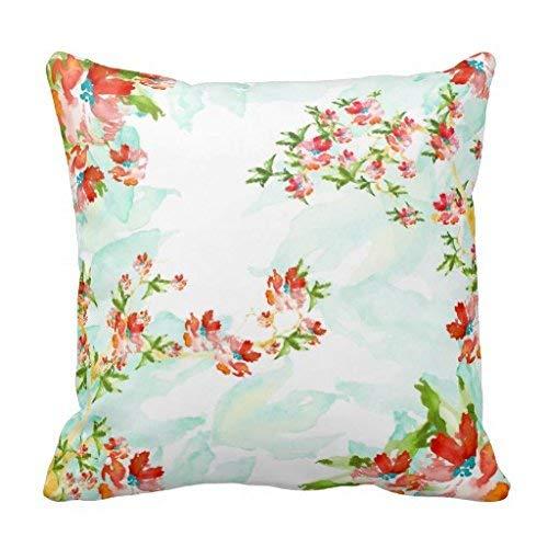 yting Collage Floral de Bouquet d'aquarelle taie d'oreiller pour Chaise Longue, Divan, extérieur, Chaise Longue, pub, Famille 18\