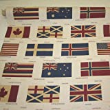 Stoff Meterware Flagge Fahne USA England Norwegen Hawaii