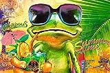 1art1 Frösche - Summer Time Frog, Michael Tarin Poster 91