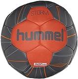 hummel Ballon de Handball pour Sport Professionnel & Training–Taille 2ou 3–Storm HB–Résine Bleu & Rouge–Ball avec Valve Air de Trap 2 Ombre Blue/Naturtium