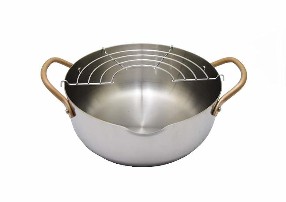 文句を言う将来の鹿IH対応ステンレス製天ぷら鍋 「味紀行」 20cm