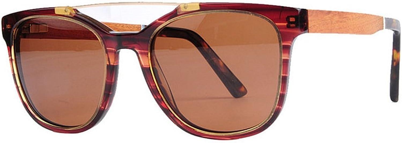 EYES Women's Retro Polarized Sunglasses Cat Eyes Acetate Fibre Frame Wood Leg TAC Lens UV Predection Driving Fishing Beach Outdoor Sunglasses Outdoor (color   Brown)