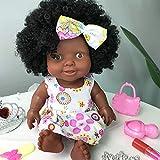 Vovotrade Poupée Africaine Articulée Bébé Jouet Noir Poupée Meilleur Cadeau Cadeau Cadeau De Noël Baby Movable Joint African Doll Toy Black Doll Best Gift Toy Christmas Gift (Coffee)